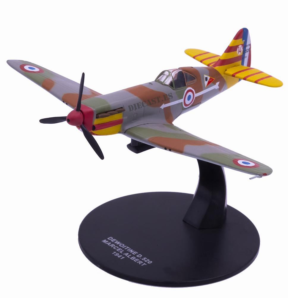 Dewoitine D.520, piloto Marcel Albert, 1941, 1:72, Atlas