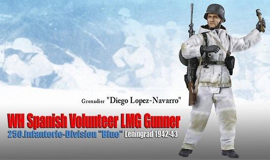 Diego López-Navarro, Voluntario de la División Azul, LMG Gunner, 250, Leningrado, 1942-43, 1:6, Dragon Figures