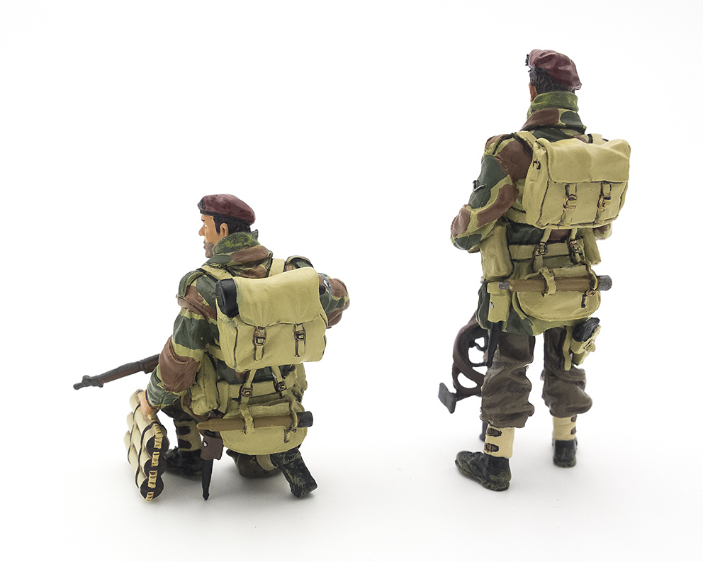 Dos figuras de Paracaidistas Británicos, 2ª Guerra Mundial, 1:30, Thomas Gunn