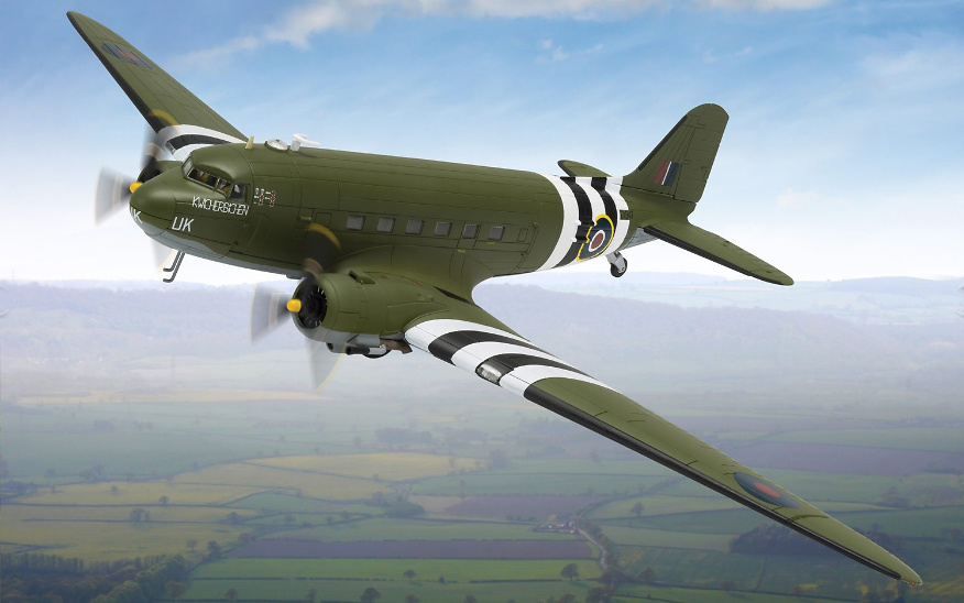 Douglas C-47 Dakota, ZA947, 'Kwicherbichen', The Battle of Britain Memorial Flight, 1:72, Corgi