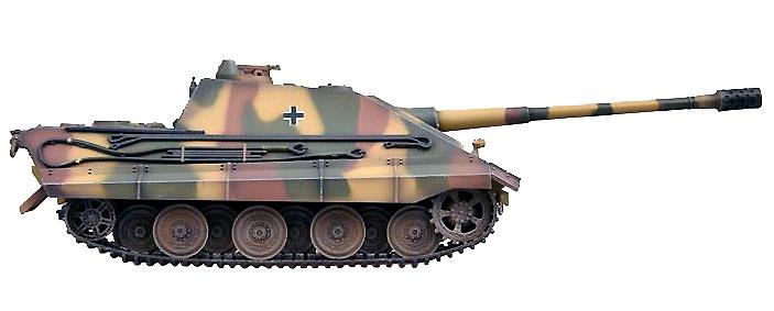 E-75 Jagdpanther, Tanque Pesado con cañón 128/L55, Alemania, 1946, 1:72, Modelcollect