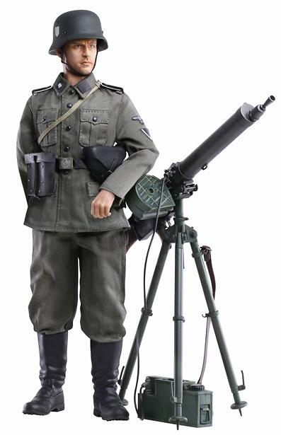 Ernst Kunkel (Sturmmann) Totenkopf Heavy Machine Gunner, Totenkopf-Infanterie-Regiment 1, France 1940, 1:6 Dragon Figures