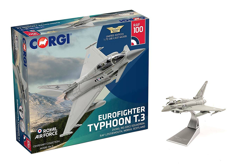 Eurofighter Typhoon T.3 ZK380 No.2(AC) Squadron, 1:72, Corgi