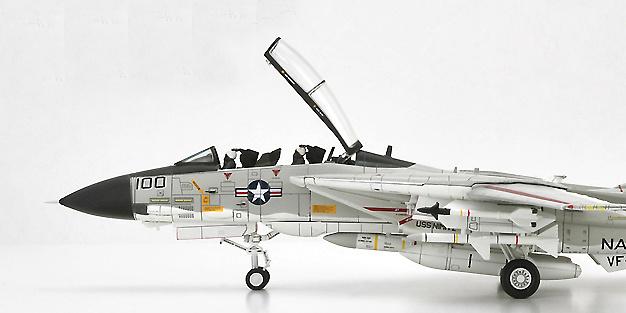 F-14A Tomcat U.S.Navy VF-41 Black Aces AJ100, 1978, USS Nimitz, 1:72, Century Wings
