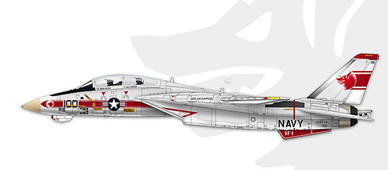 "F-14A Tomcat VF-1 ""Wolf pack"" NK100, Operation Frequent Wind, BuNo 158979, 1:72, Calibre Wings"