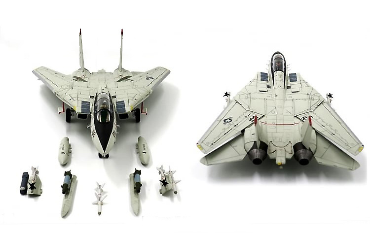 F-14D Tomcat VF-41 Black Aces, USS Enterprise CVN-65, 2001, 1:72, JC Wings