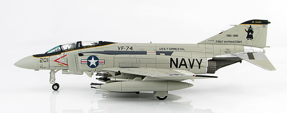 F-4J Phantom II BuNo.153777, 20th Anniversary Phantom First In Phantoms VF-74, Oceana NAS, 1981, 1:72, Hobby Master