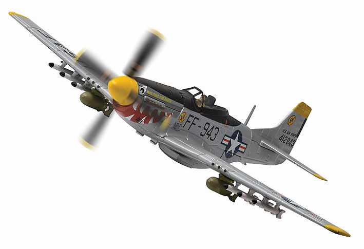 North American F-51D Mustang™, 44-12943/FF-943 'Was that too fast?'18th Fighter Bomber Group, USAF, Chinhae Airfield, South Korea, 1951, 1:72, Corgi