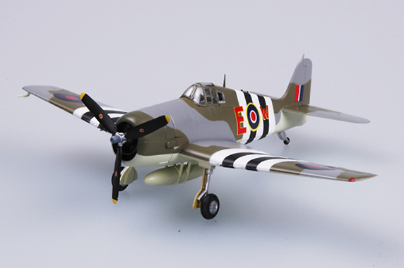F6F-5 Hellcat, RAF, HMS Emperor, 800 Sqn, 1944, 1:72, Easy Model