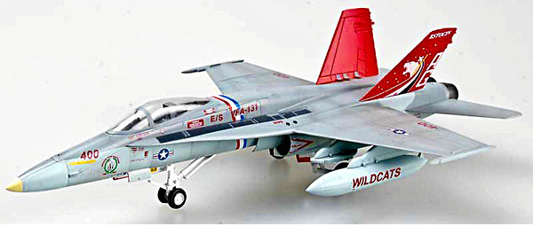 F/A-18 Hornet, US Navy VFA-131, Wildcats , 1:72, Easy Model