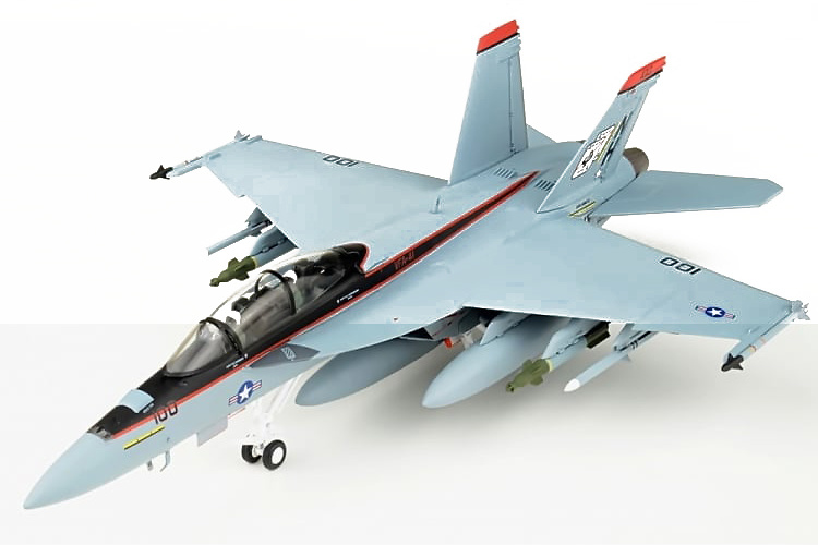 F/A-18F Super Hornet VFA-41 Black Aces, USS Nimitz CVN-68, 2008, 1:72, JC Wings