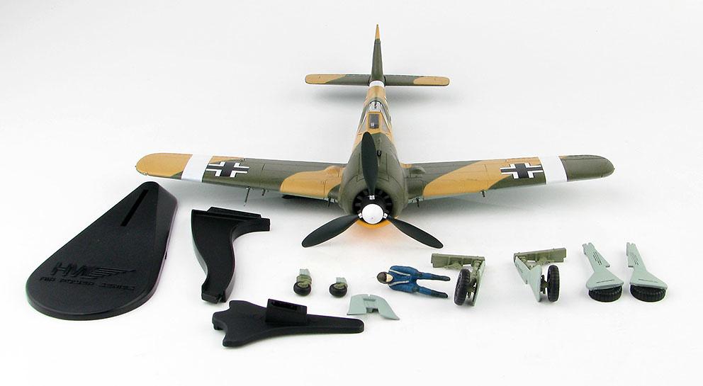 FW 190A-4 Commander of 6./JG 2 Oblt. Erich Rudorffer, Norte de Africa, 1943, 1:48, Hobby Master