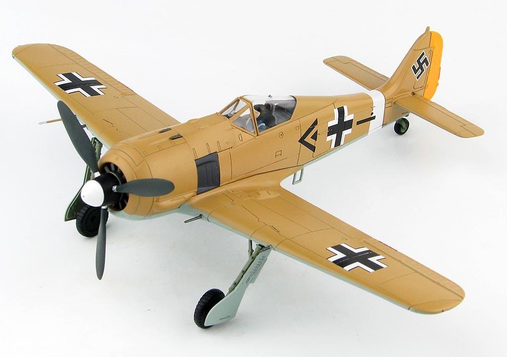 FW 190A-4 I / JG 2, Gruppenkommandeur Oblt. Adolf Dickfeld, Túnez, 1942, 1:48, Hobby Master