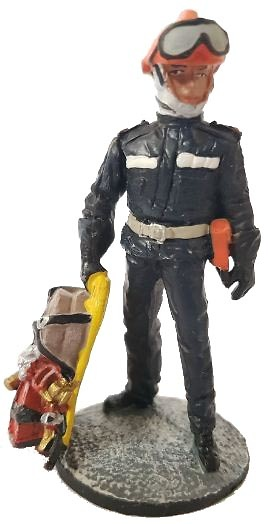 Field and sea firefighter with fire retardant suit, Marseille, France, 2011, 1:30, Del Prado