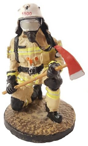 Firefighter with fire retardant suit, Berlin, Germany, 2013, 1:30, Del Prado