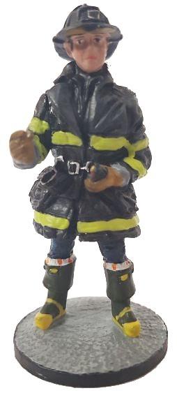 Firefighter with fire retardant suit, Chicago, USA, 1994, 1:30, Del Prado