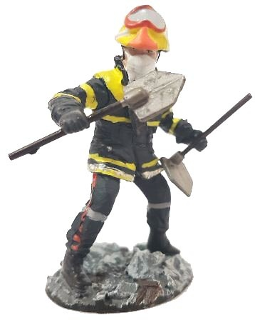 Firefighter with fire-retardant suit Eastern Pyrenees, France, 2010, 1:30, Del Prado