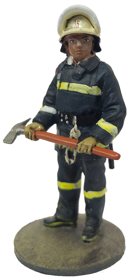 Firefighter with fireproof suit, Santiago, Chile, 1992, 1:30, Del Prado