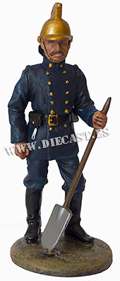Firefighter with flame-retardant suit, Great Britain, 1890, 1:30, Del Prado