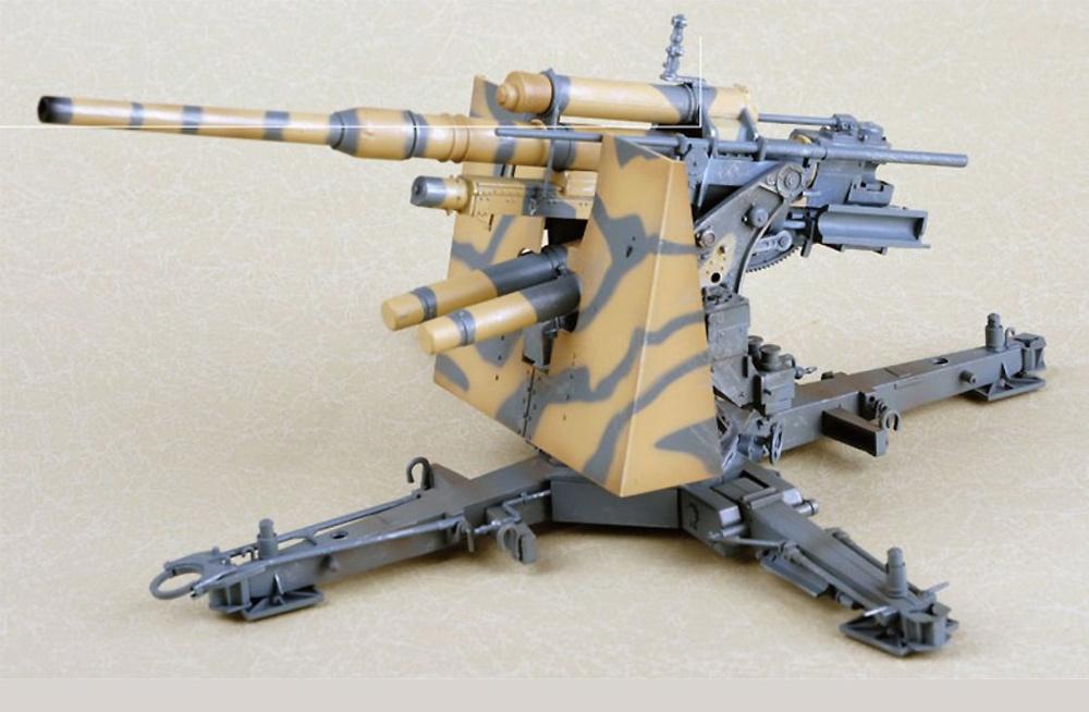 Flak 36, 88mm, cañón antiaéreo alemán, 1:18, Merit