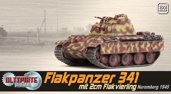 Flakpanzer 341 mit 2cm Flakvierling, Nuremberg, 1945, 1:72,Ultimate Armor
