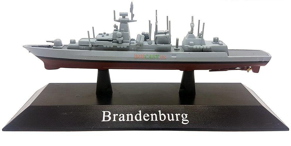 Fragata F123 clase Brandenburg #F215, Deutsche Marine, 1995, 1:1250, DeAgostini