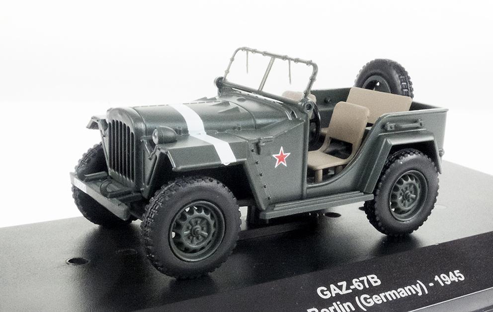 GAZ-67B, RKKA, Fuerzas Aéreas Ejército Rojo, Berlín, 1945, 1:43, Atlas