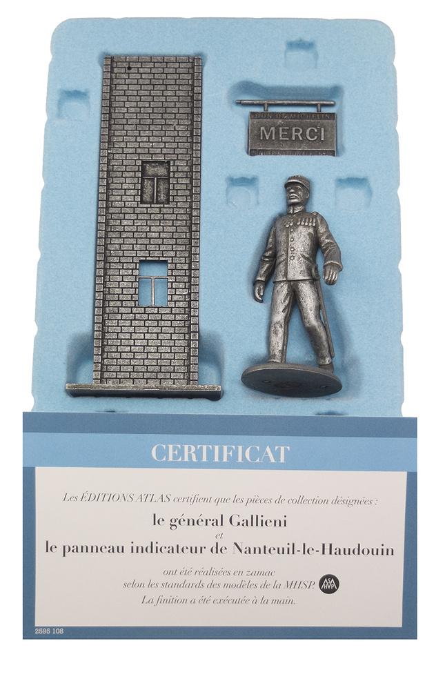 General Gallieni con cartel indicador en Nanteuil-le-Haudouin, Francia, Septiembre, 1914, 1:24, Atlas Editions