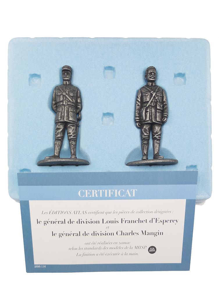 Generales de División Louis Franchet d'Esperey y Charles Mangin, 1:24, Atlas Editions