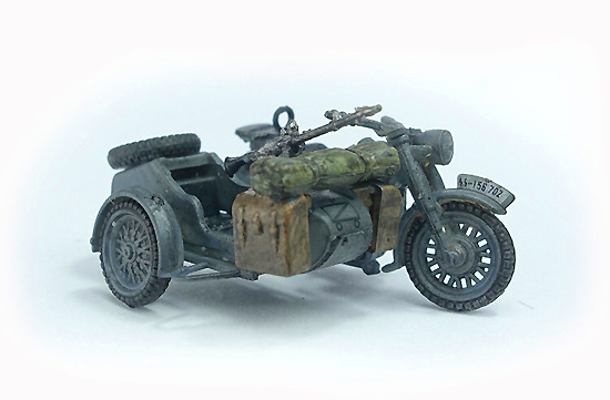 German BMW R75, 3th SS Tank Division, WWII combo Diorama, 1:72, PMA