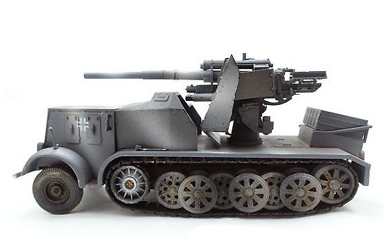 German Sd.kfz.8 DB9, Flak 18, 88 m.m., camuflaje, 1:72, PMA