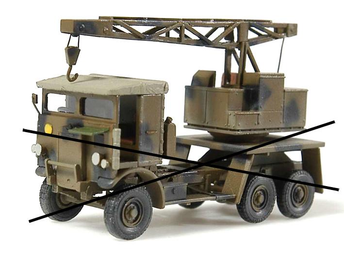 Grúa Leyland (vehículo no incluído), 1:72, Wespe Models