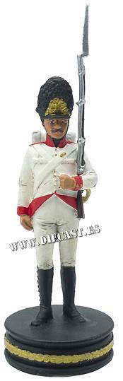 Granadero del Regimiento «Kaiser Franz II», Ejército Austríaco, 1:24, Altaya