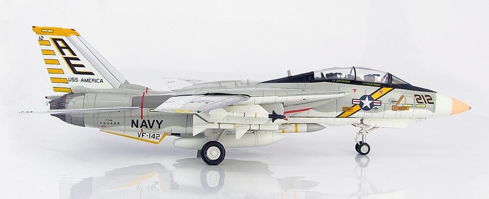 Grumman F-14A Tomcat AE/212. VF-142, USS America, 1976, 1:72, Hobby Master