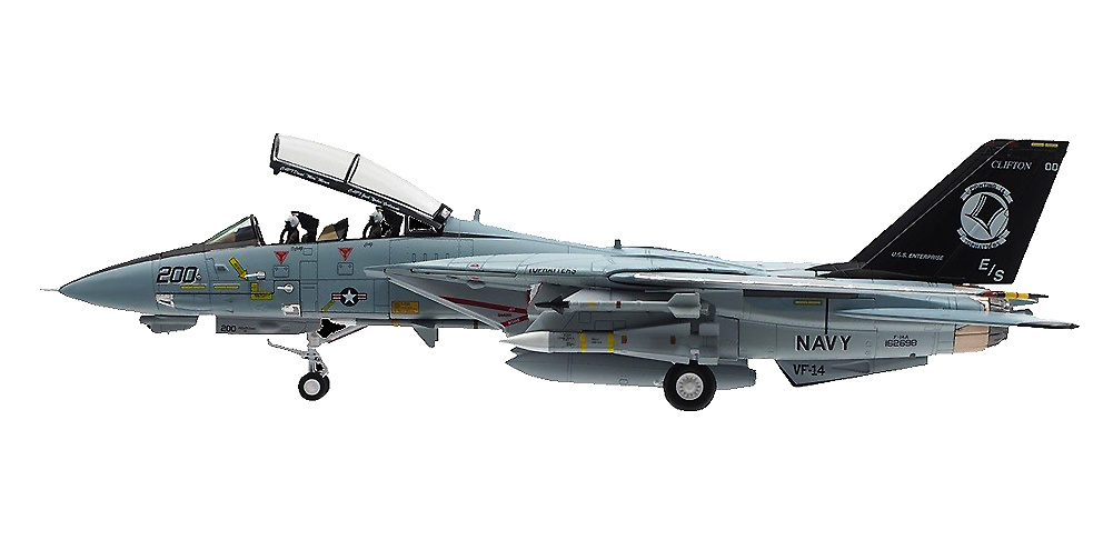 Grumman F-14A Tomcat VF-14 Tophatters, BuNo 162698, 1:72, Calibre Wings