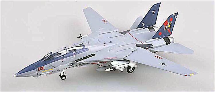 Grumman F-14B Tomcat, USN VF-11 Red Rippers, AG200, USS George Washington, 1/72, Easy Model