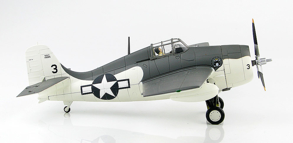 Grumman F4F-4 Wildcat 46685, VC-12, USS Core, 1944, 1:48, Hobby Master