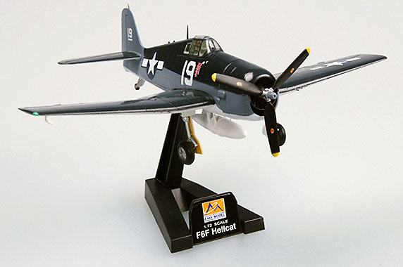 Grumman F6F-5 Hellcat, VF-6, USS Intrepid, 1944, 1:72, Easy Model