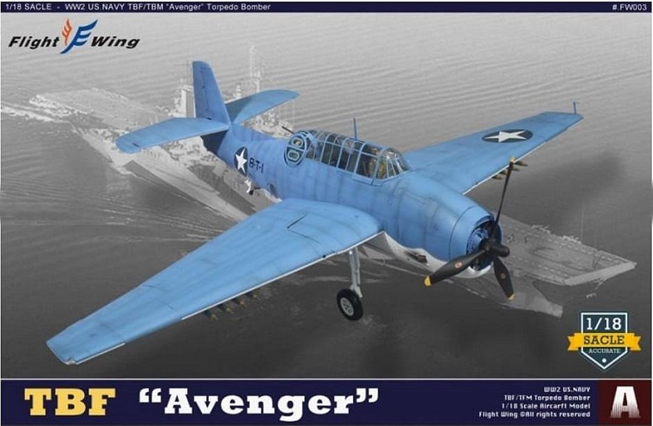 Grumman TBF Avenger, Model USN VT-8, 8-T-1, Batalla de Midway, Junio, 1942, 1:18, Flight Wing