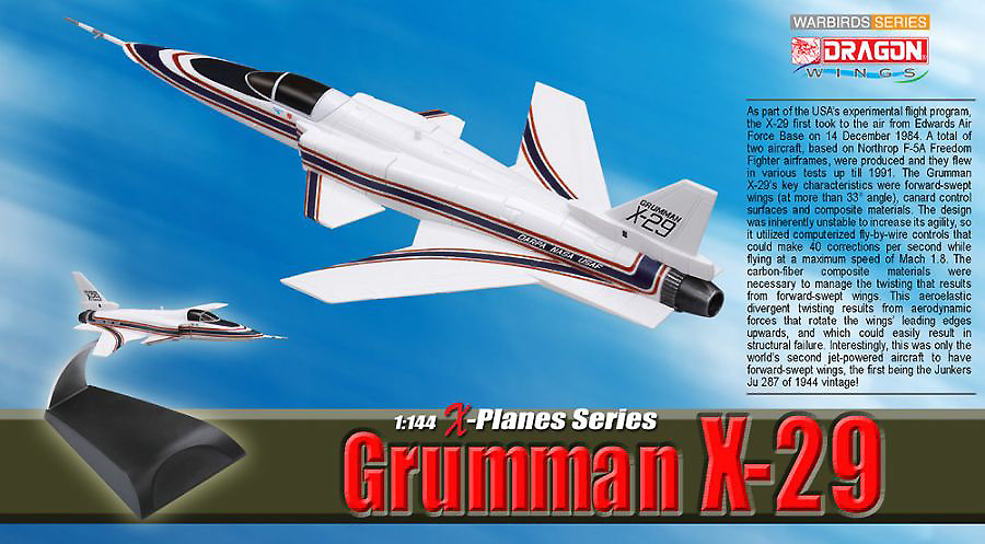 Grumman X-29, Experimental Nasa-USAF, 1:144, Dragon Wings