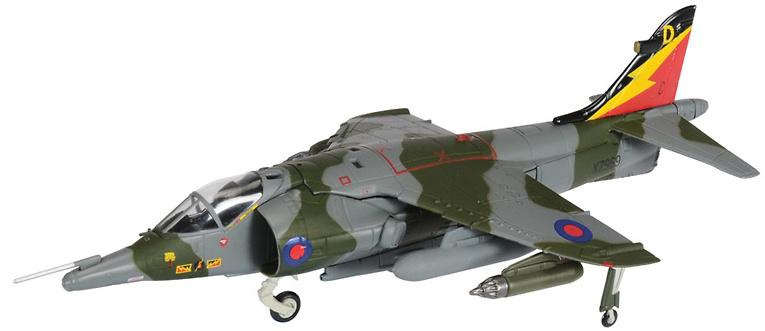 Harrier GR3, 4 Sqn RAFG Gutersloh, 1989, 1:72, Corgi