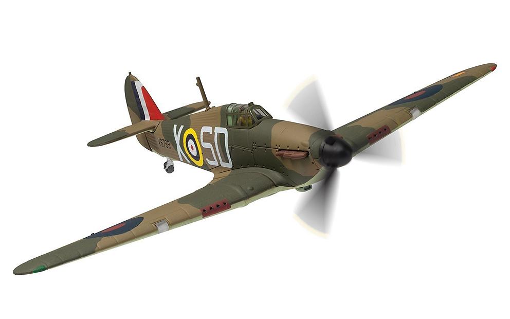 Hawker Hurricane Mk.I, V6799 / SD-X, Piloto K.W Mackenzie, RAF No.501 Squadron, Octubre, 1940, 1:72, Corgi