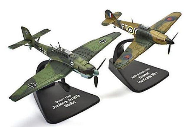 Hawker Hurricane Mk1 (Dunquerque) + Junkers Ju87B Stuka (Batalla de Inglaterra), 1940, 1:72, Atlas