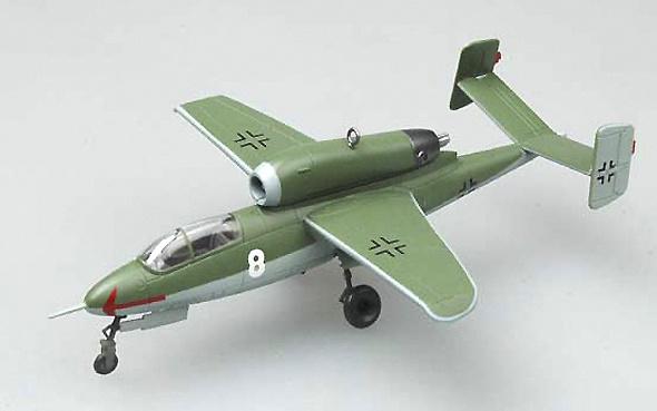 Heinkel HE162 A-2 1/JG1, Leck Airfield, Germany, May 1948, 1:72, Easy Model