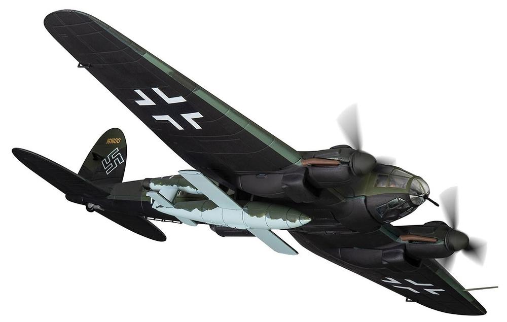 Heinkel He-111H-16 A1 + HK, 2./KG53, unidad Air Launch V-1 Flying Bomb, finales de 1944, 1:72, Corgi, 1:72, Corgi