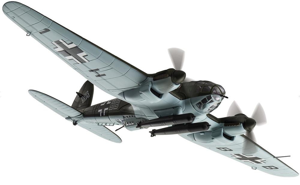 Heinkel He.III H-6, 1H+BB, 1./KG26, Ataque contra convoy Ártico PQ 17, 1942, Noruega, 1:72, Corgi