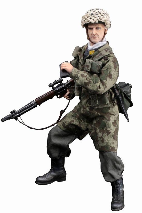 Hermann Heiliger, (Oberjäger) Monte Casino Fallschirmjäger w/FG-42, FJR 3, 1ºDivisión paracaidísta, batalla por Cassino 1944, 1:6, Dragon Figures