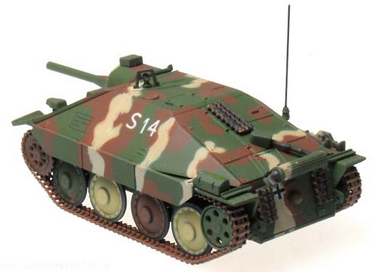 Hetzer (Flamm) 17.SS PD, Alsace, January 1945, 1:72, Panzerstahl