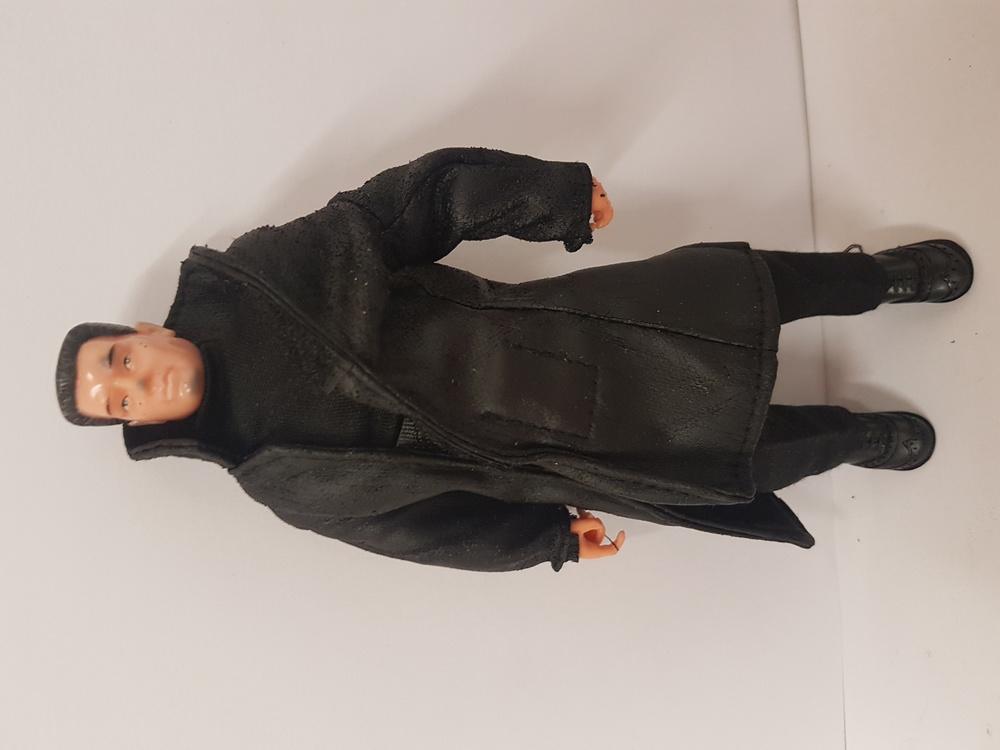 Hombre con gabardina negra Madelman Super Equipo Cuerpo Secreto