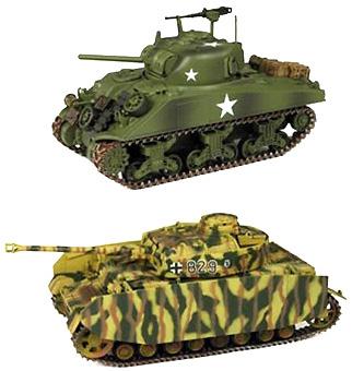 Iron Horses, Dual Pack, US M4 Sherman & German Panzer IV, 1:32, 21st Century Toys